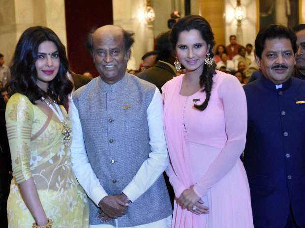 Priyanka Chopra, Rajnikanth and Sania Mirza Honoured With Padma Awards