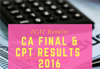ICAI CA CPT Results 2016