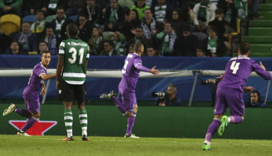 Real Madrid vs Sporting Lisbon(2-1)
