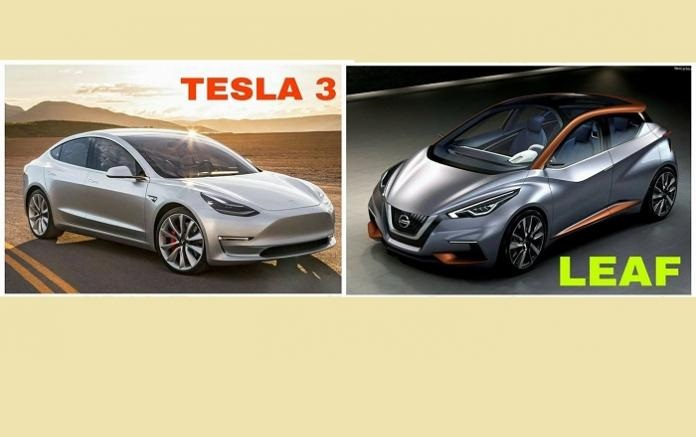 Tesla Model 3 vs Nissan Leaf