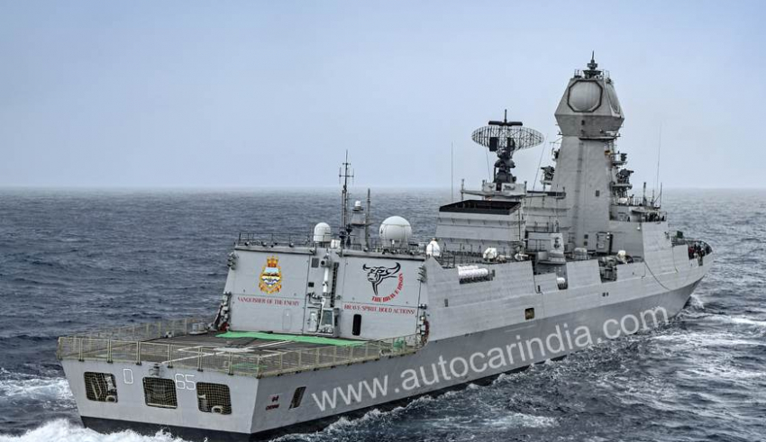 INS Chennai out at sea