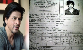 Shahrukh Khan's DU Admission Form
