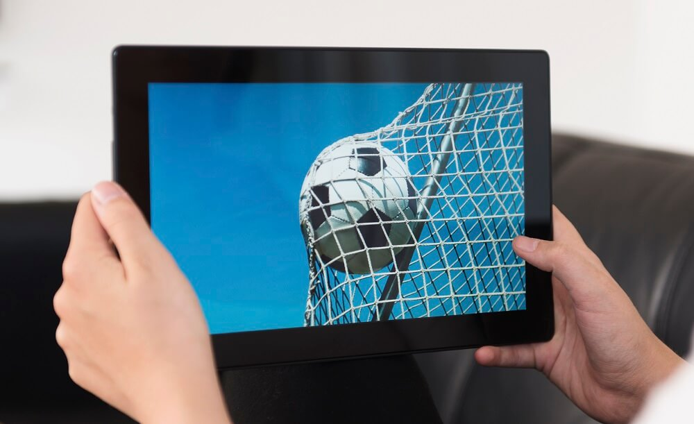 Photo Soccer Ball Tablet Video