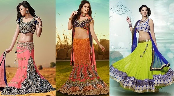 rectangle body shape lehenga
